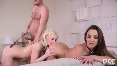 Tiny Submissive Teen Joins To Threesome