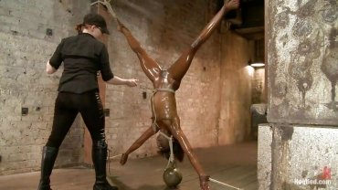 Kink - Oiled Ebony Sex Slave